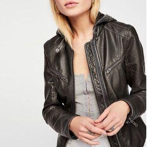 We The Free Monroe Vegan Leather Moto Jacket